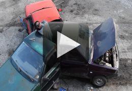 Russos fazem spinner utilizando carros