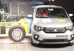 Fiat Mobi recebe apenas 1 estrela em teste de colisão
