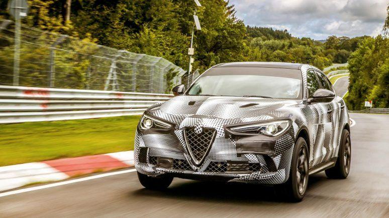 Alfa Romeo Stelvio supera Porsche Cayenne Turbo S em Nürburgring