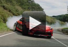 Confira a fumaça levantada pelo GT86 em Drift