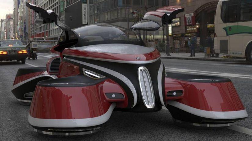 Designer cria carro voador impressionante