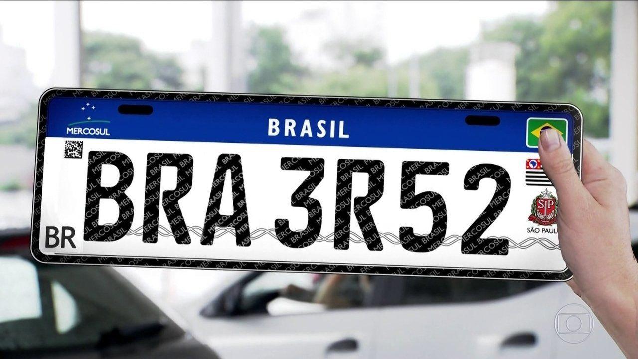 Novo prazo: veículos terão placas no padrão Mercosul a partir de dezembro