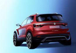 Volkswagen divulga imagem inédita do SUV T-Cross
