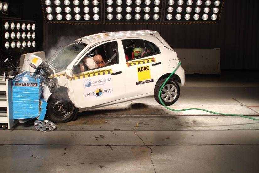 Nissan March recebe apenas 1 estrela em teste de colisão