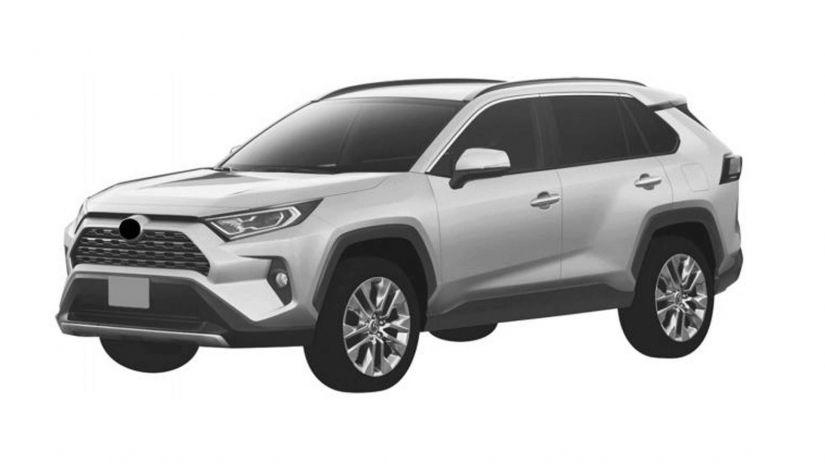 Toyota registra patente da nova geração do RAV 4 no Brasil