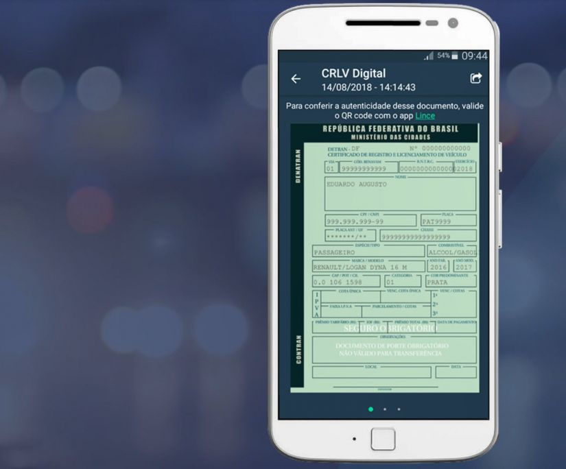 Documento digital de veículos é lançado no DF