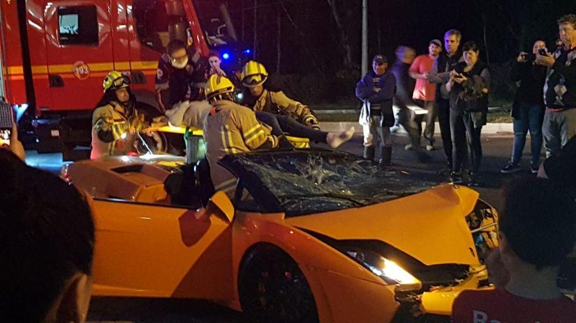 Turista bate Lamborghini alugada em cidade do Rio Grande do Sul