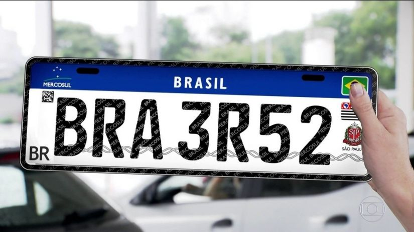 Placa padrão Mercosul começa a ser utilizada no Rio de Janeiro