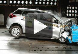 Toyota Yaris consegue três estrelas em teste de segurança