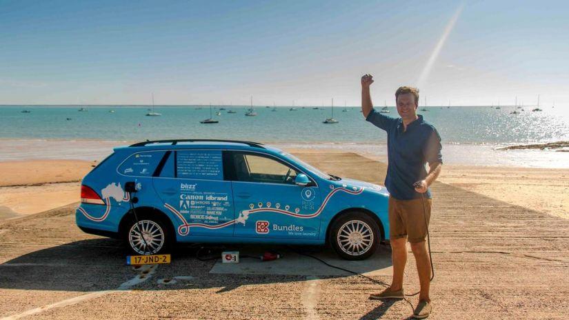 Termina viagem de carro elétrico mais longa do mundo