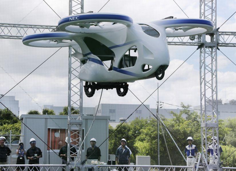 Vídeo mostra carro voador japonês fazendo teste