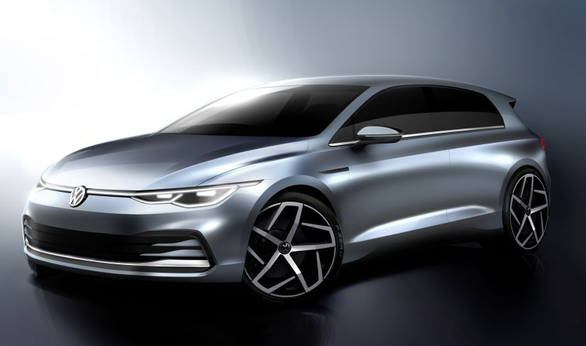 Volkswagen revela visual da nova geração do Golf