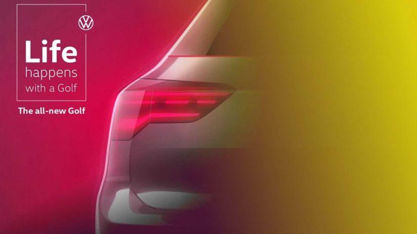 Volkswagen revela mais detalhes em teaser do novo Golf 2020