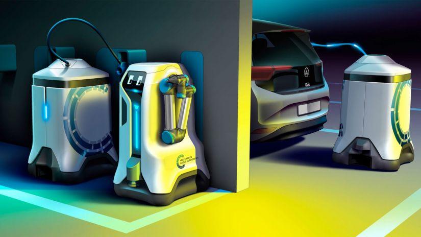 Volkswagen cria robôs para carregar carros elétricos