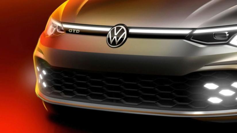 Volkswagen divulga teaser do novo Golf GTD
