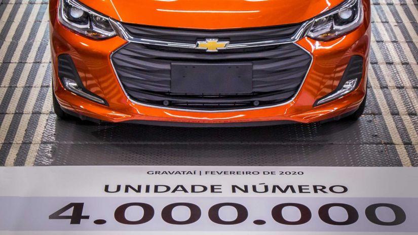 Chevrolet produz unidade número 4.000.000 no Rio Grande do Sul