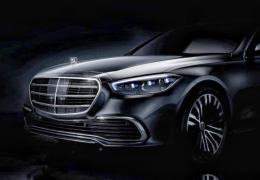 Mercedes mostra dianteira em teaser do novo Classe S 2021
