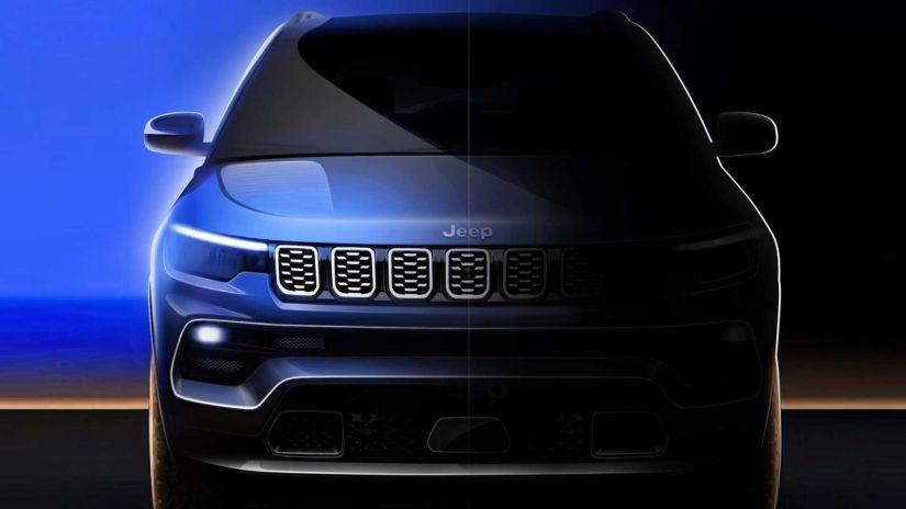 Novo Jeep Compass 2022 terá multimídia flutuante