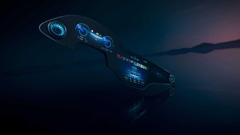Mercedes revela tela gigante de 56 polegadas e inteligência artificial