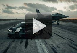 Vídeo: Bugatti Chiron aposta corrida com jato militar
