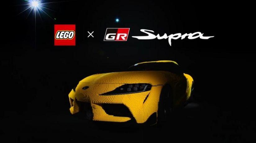 Lego apresenta réplica de Toyota Supra em tamanho real