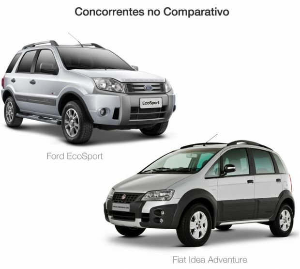 Ford Ecosport e Fiat Idea Adventure