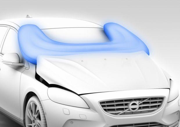 Airbag para pedestre da Volvo