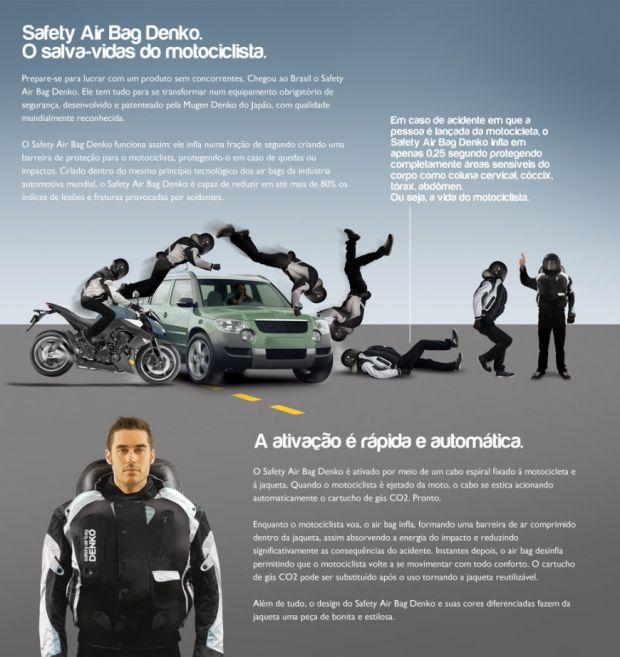 Airbag para Motociclistas da Denko