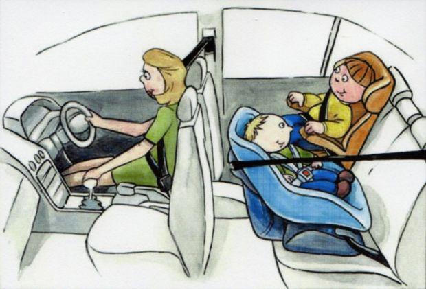 Transporte de crianças no carro