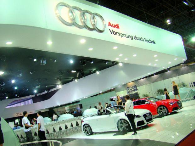 Estande da Audi no Salão do Automóvel de São Paulo