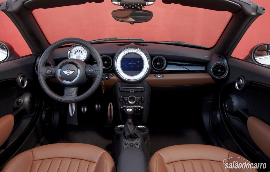 Design interior do Mini Cooper Roadster