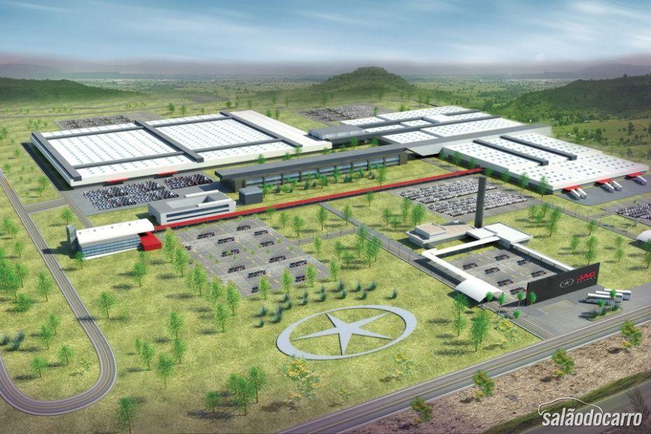Planta da fábrica da JAC em Camaçari