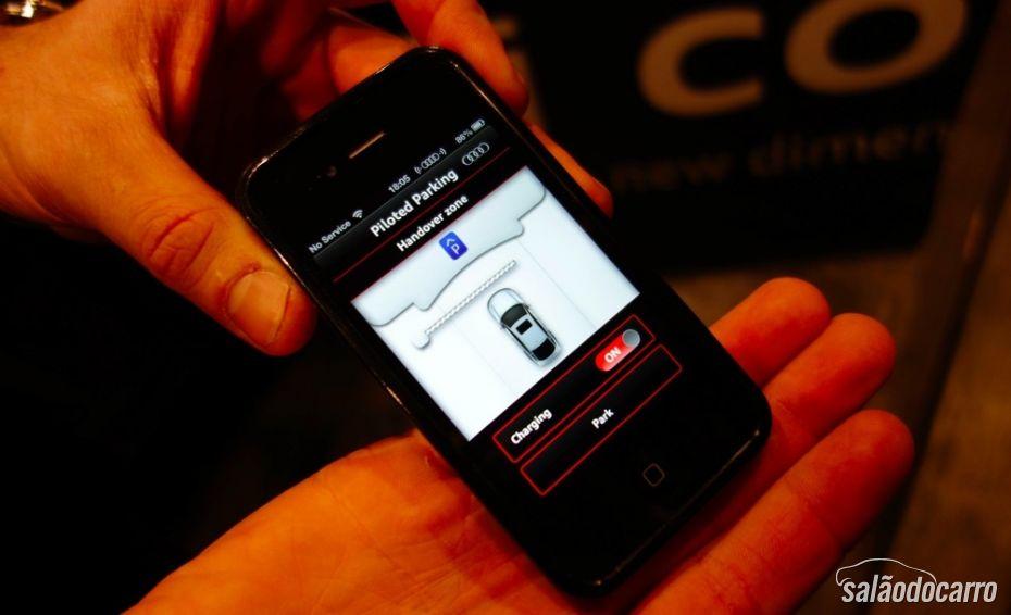 Acionamento do carro através de aplicativo no Smartphone