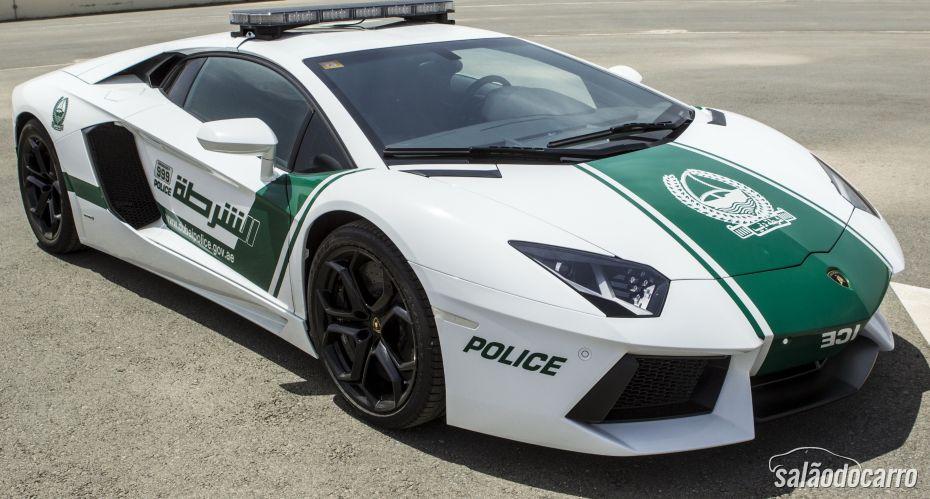 Aventador agora é o carro oficial da patrulha de Dubai
