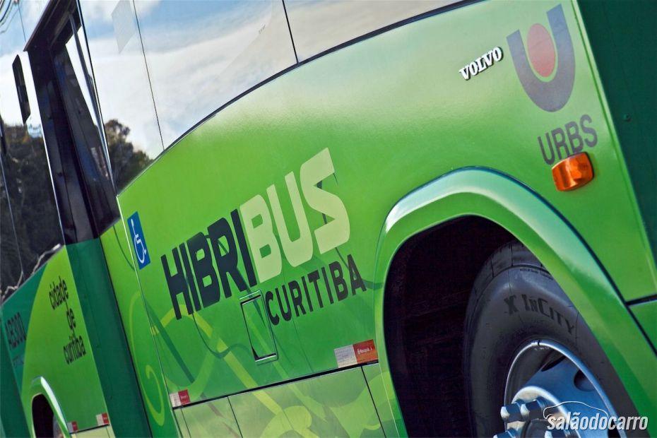 Volvo Hibribus - Detalhe da lateral