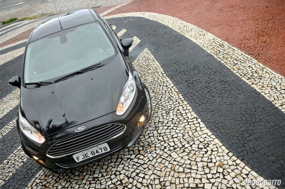 Vista superior do New Fiesta Titanium