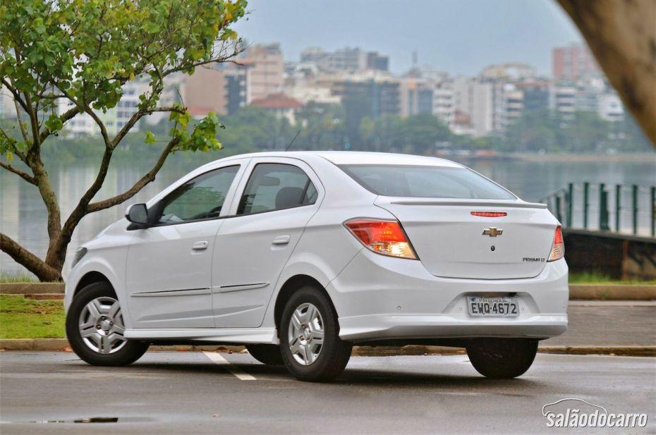 Chevrolet Prisma - Visão traseira