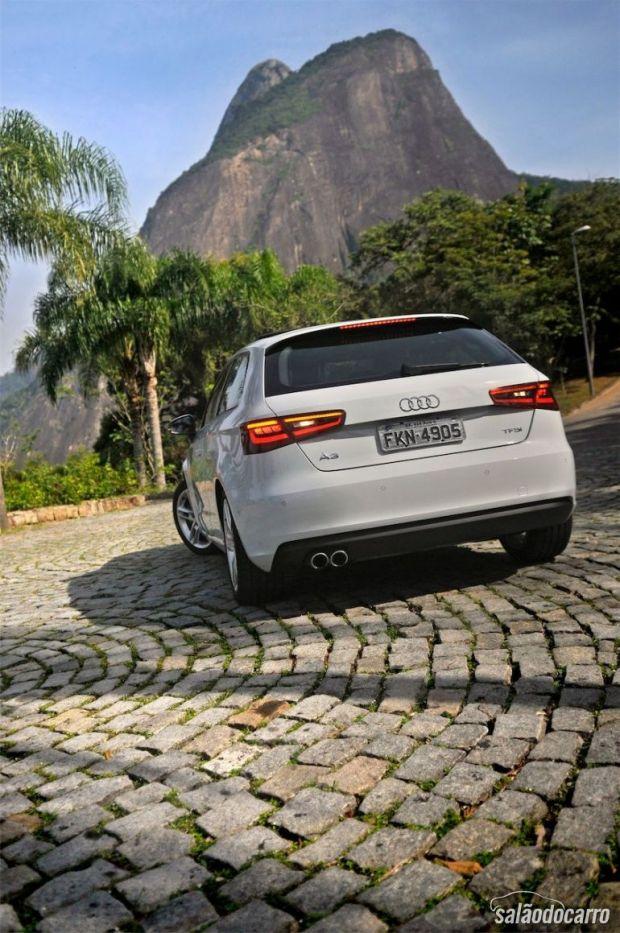 Novo Audi A3 Sport - Detalhe da traseira