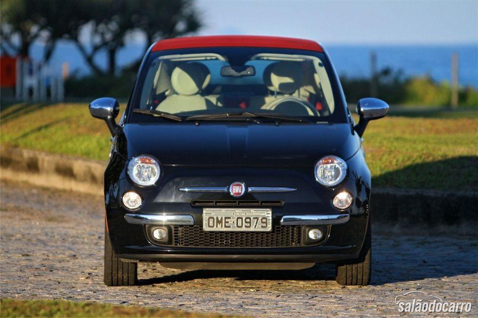 Fiat 500C - Visão frontal