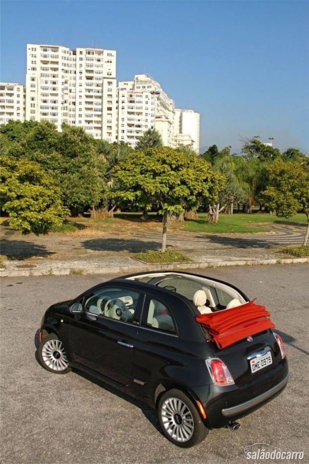 Fiat 500C - Visão lateral e de cima