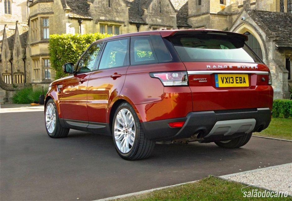 Range Rover Sport - Visão da traseira