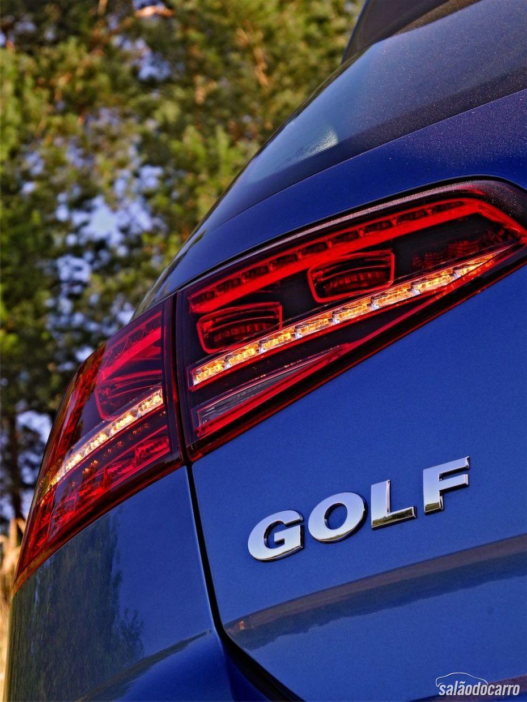 Detalhe da lanterna do Golf 7