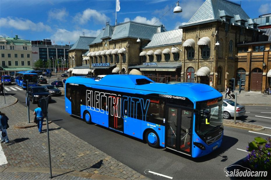 Ônibus Hibrido Plug-In da Volvo