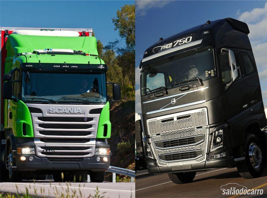 Scania R440 e Volvo FH16 750