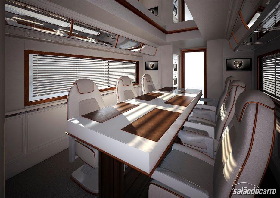 Interior com muito luxo e conforto