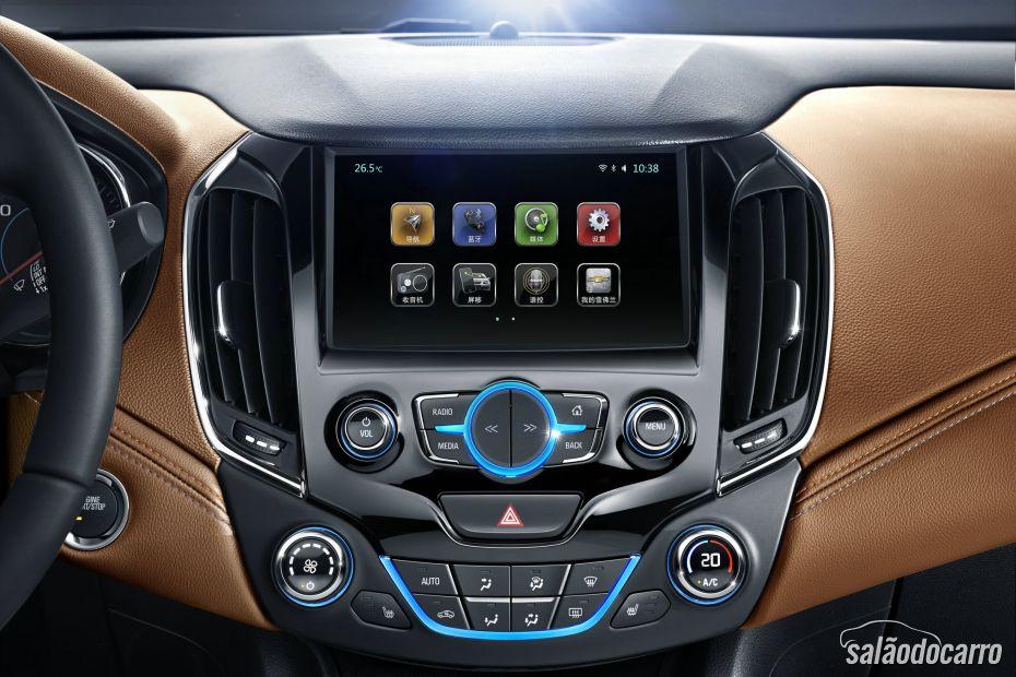 Novo console do novo Chevrolet Cruze