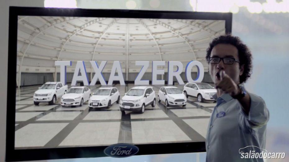 Ford oferece taxa zero para toda a linha