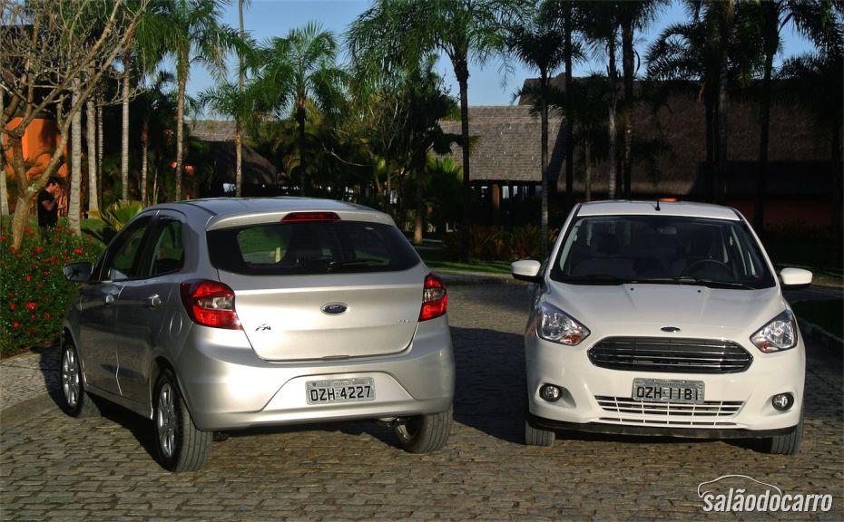 Versão Hatch e Sedan, lado a lado