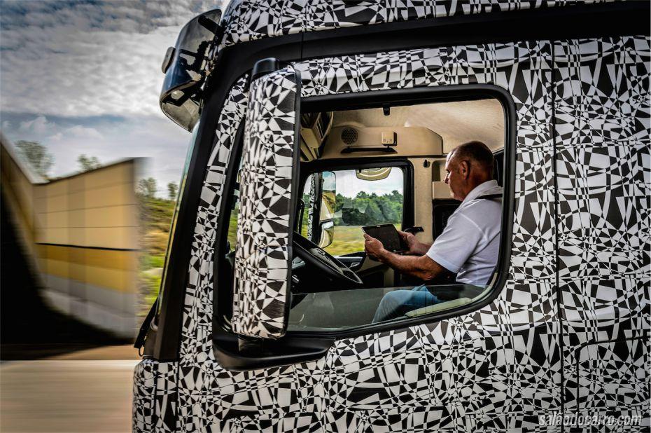 Mercedes estuda caminhão autônomo do futuro