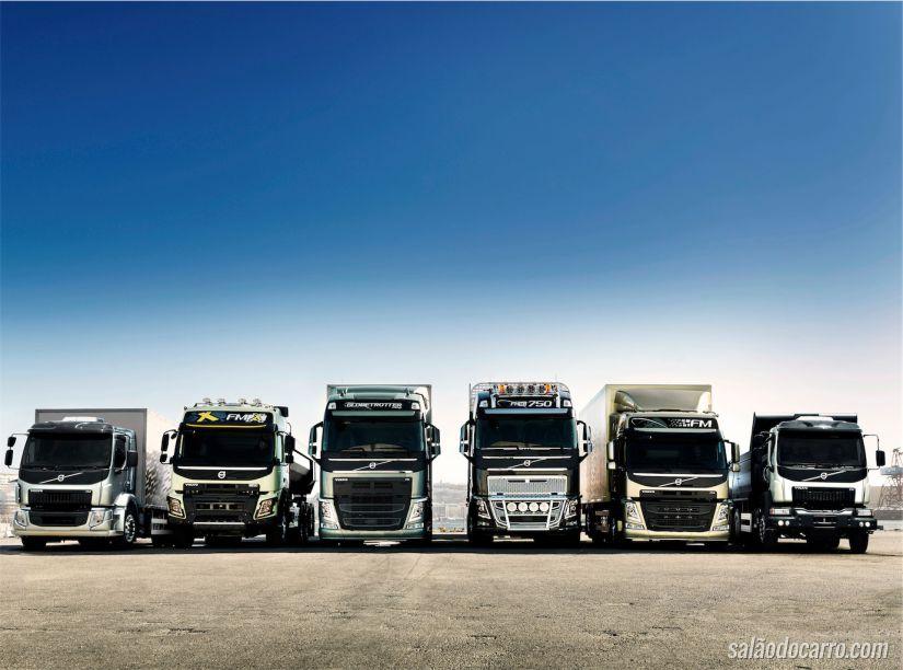 Linha Volvo FM, FMX e FH